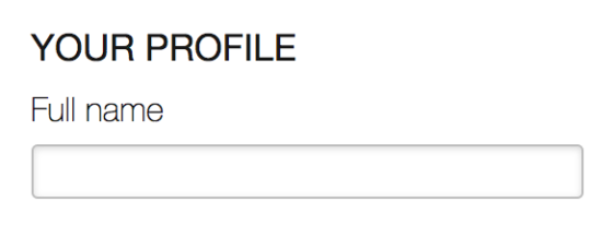 A single form field for the full name