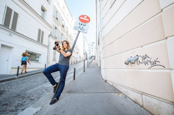 Karin Christen takes a picture of the streets of Paris