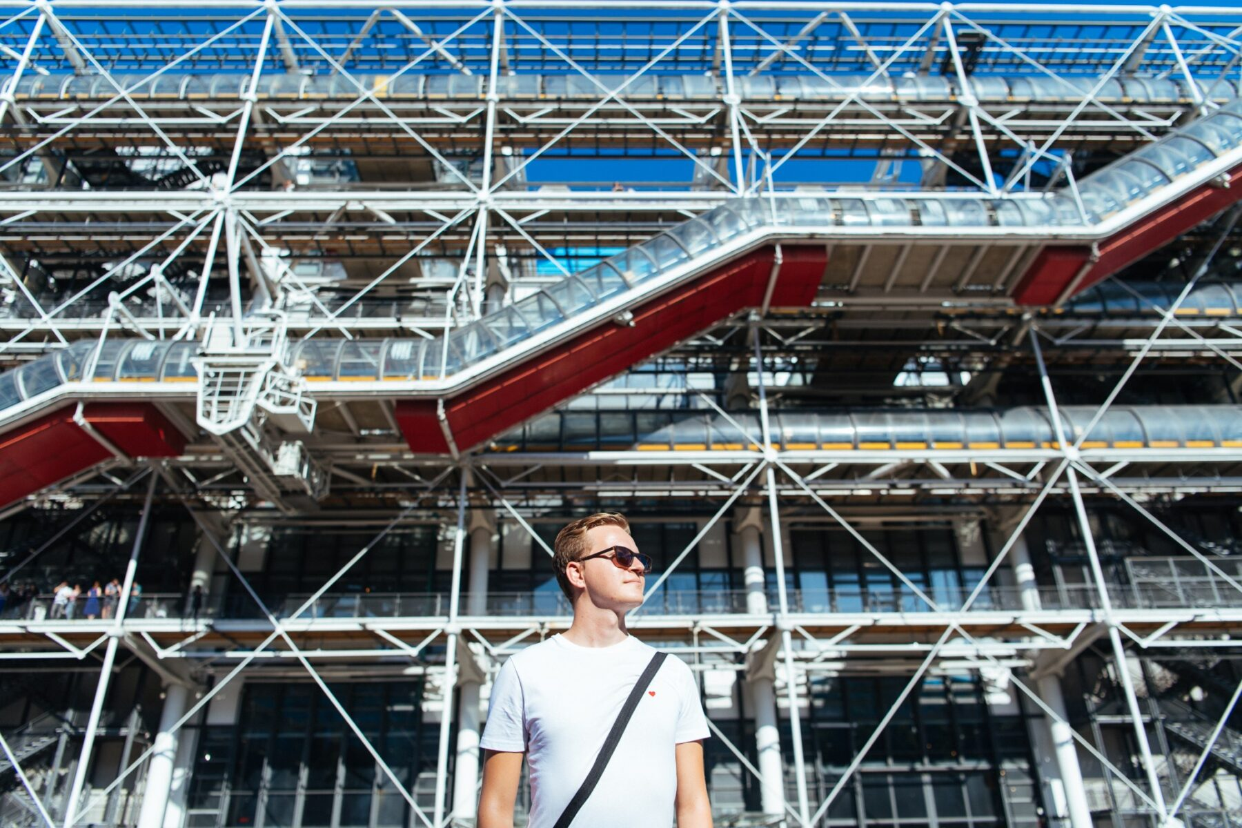 Pascal Birchler in front of Centre Pompidou