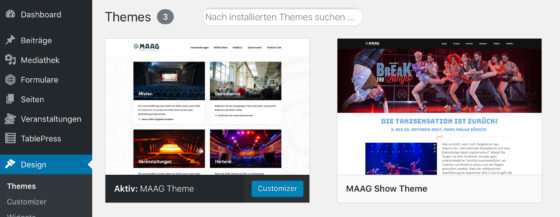 Screenshot Auswahl Custom Themes
