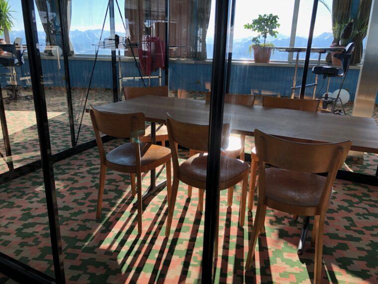 Sitzungszimmer im Glashaus