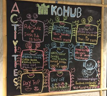 KoHub co-working space weekly activities