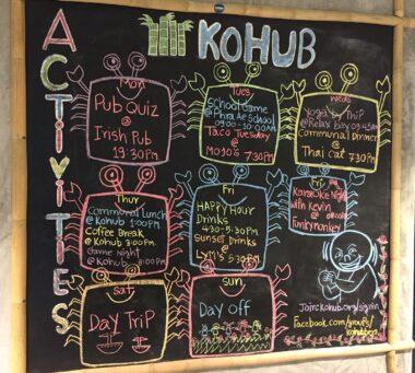 KoHub co-working space weekly activities