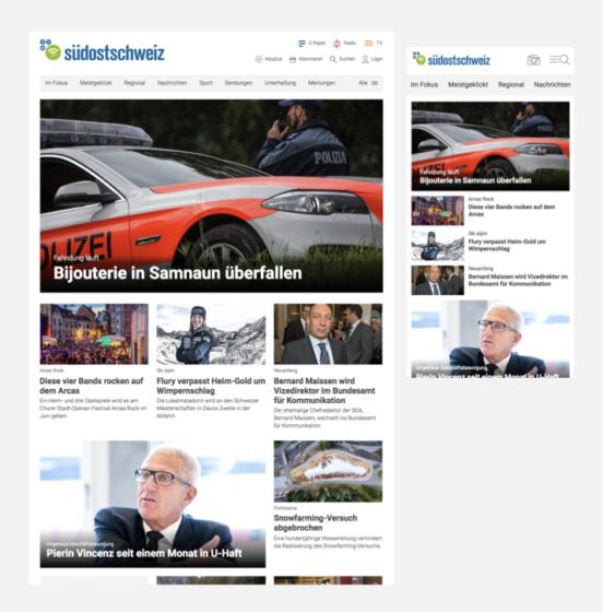 Desktop-Mobile Screenshot südostschweiz.ch