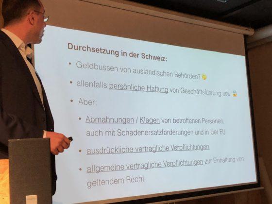 Martin Steiger spricht über die Auswirkungen von GDPR für Schweizer Websites