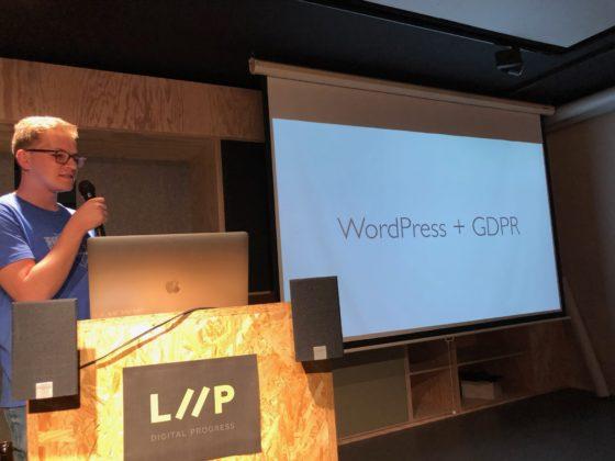 Pascal Birchler informiert über GDPR und WordPress