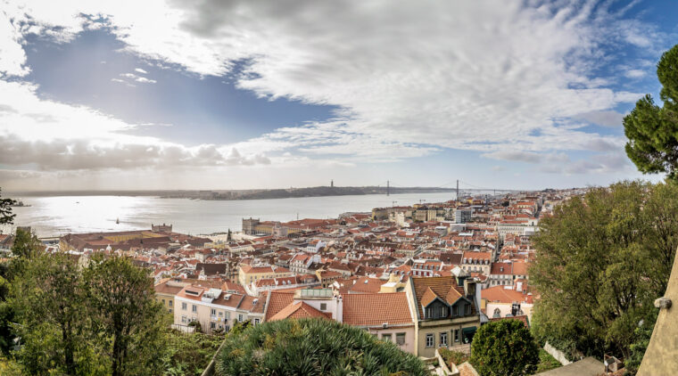 Beautiful view over Lisbon