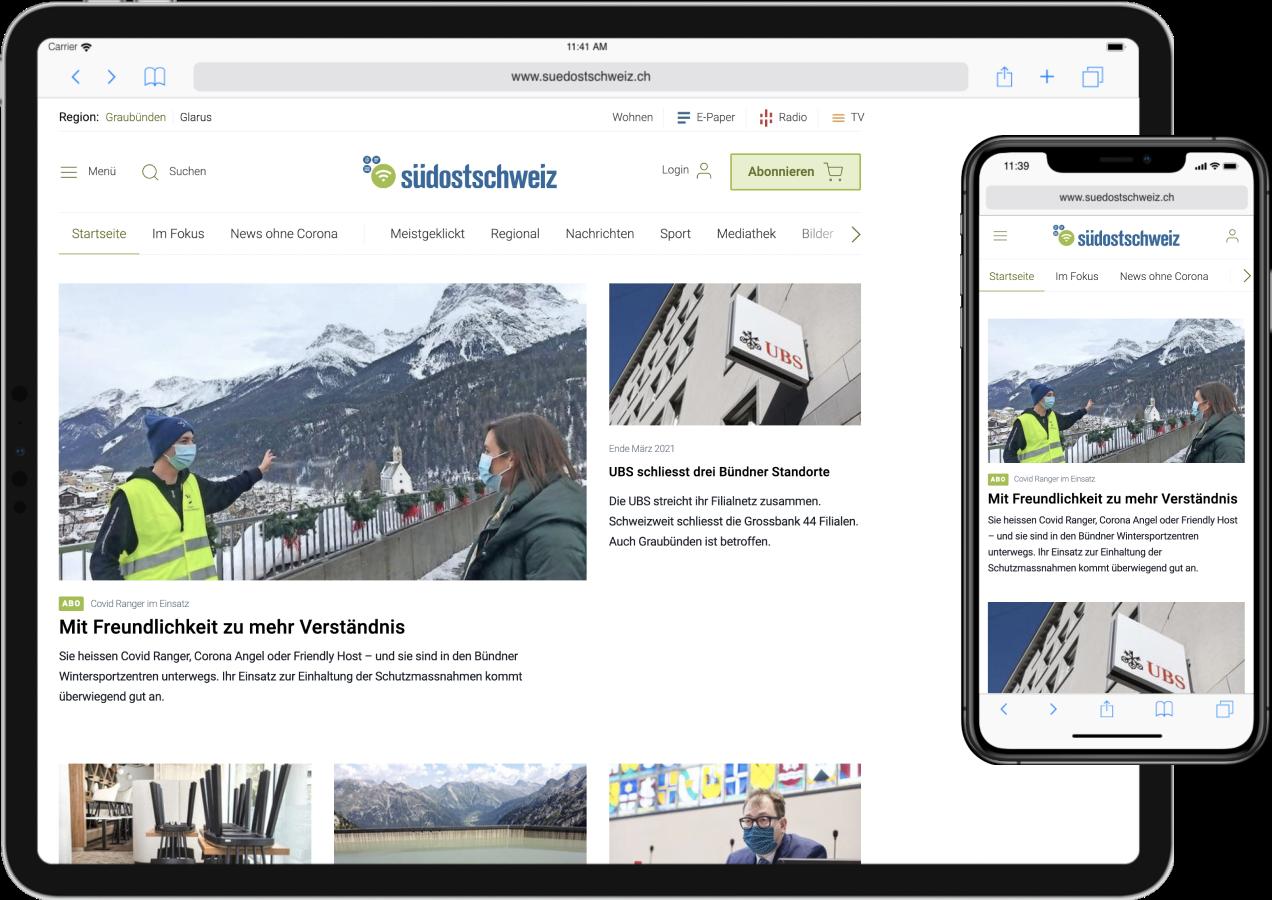 suedostschweiz.ch auf Tablet und Mobile