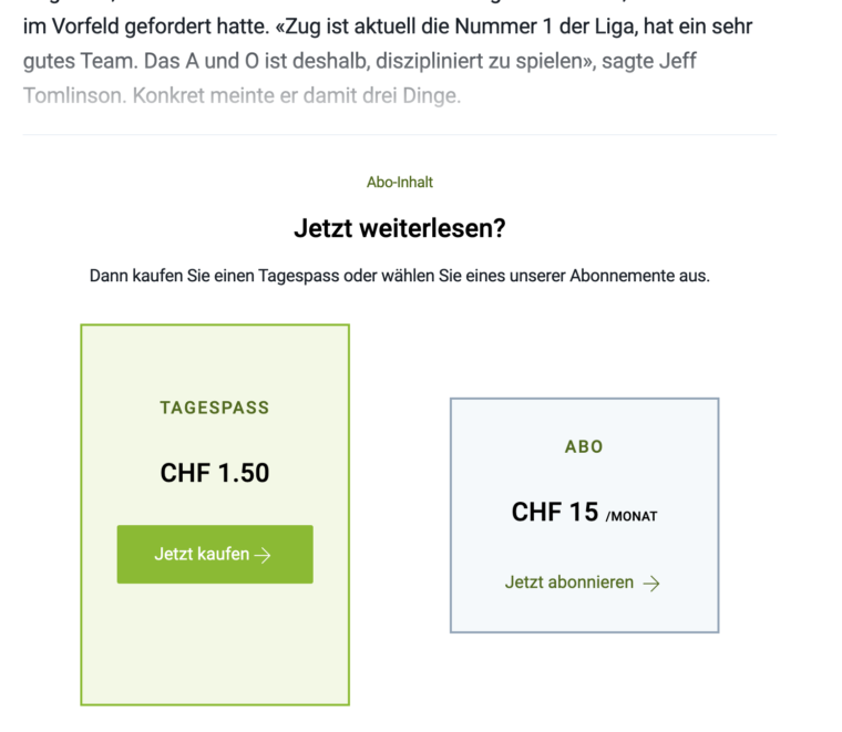 Screenshot Paid Artikel