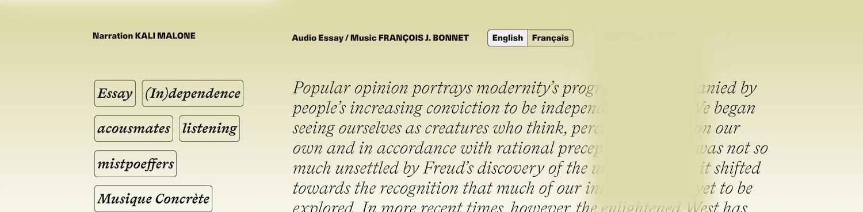 Screenshot Various Artists Language Toggle