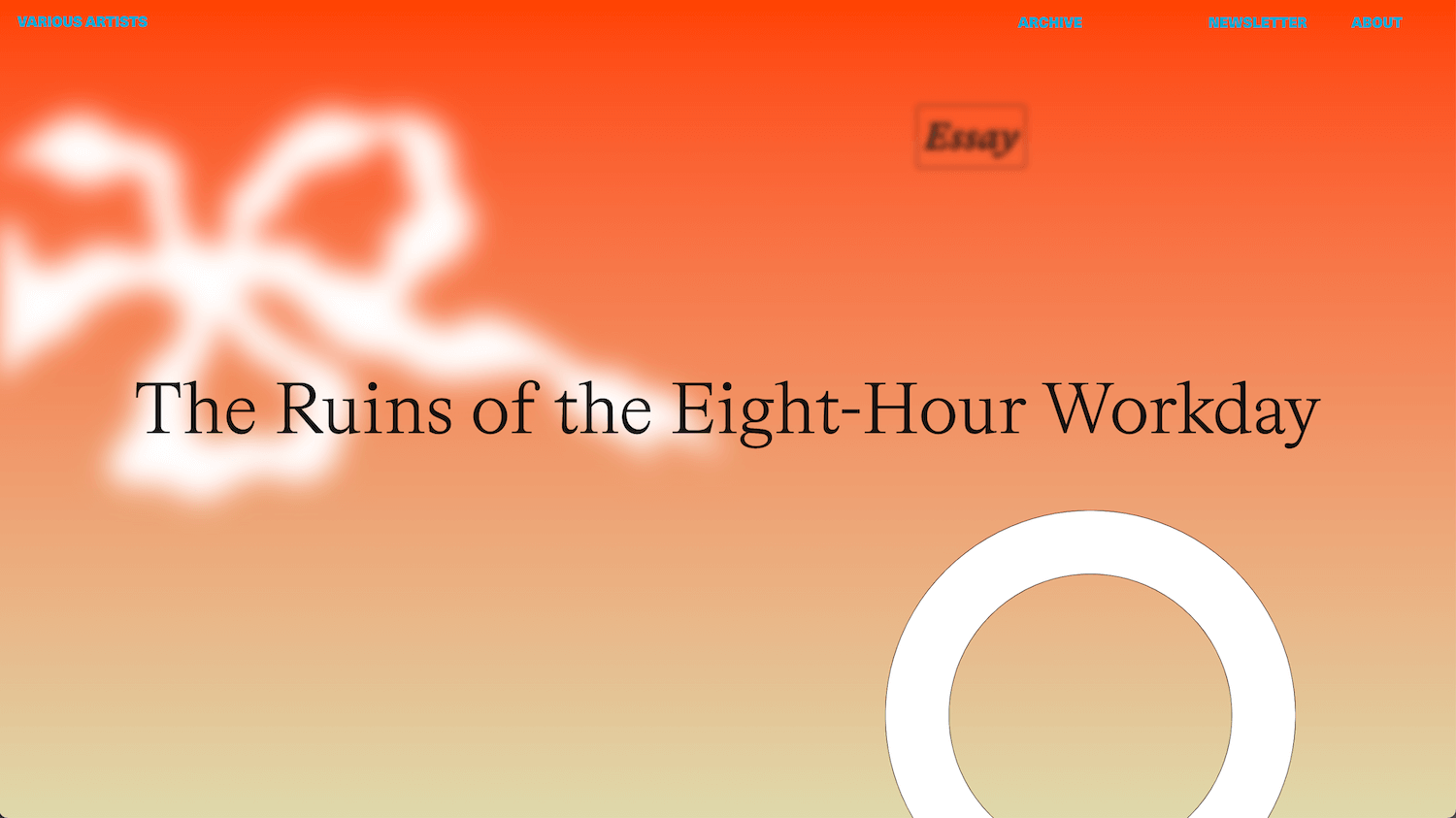 Various Artists - The Ruins of the Eight Hour Workday